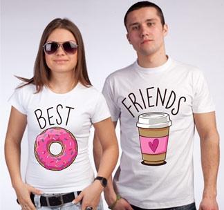 """Парные футболки """"Кофе и Вкусняшка"""""""