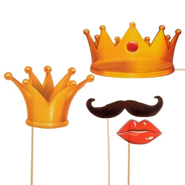 """Набор фотобутафории """"Король и Королева"""" фото 0"""