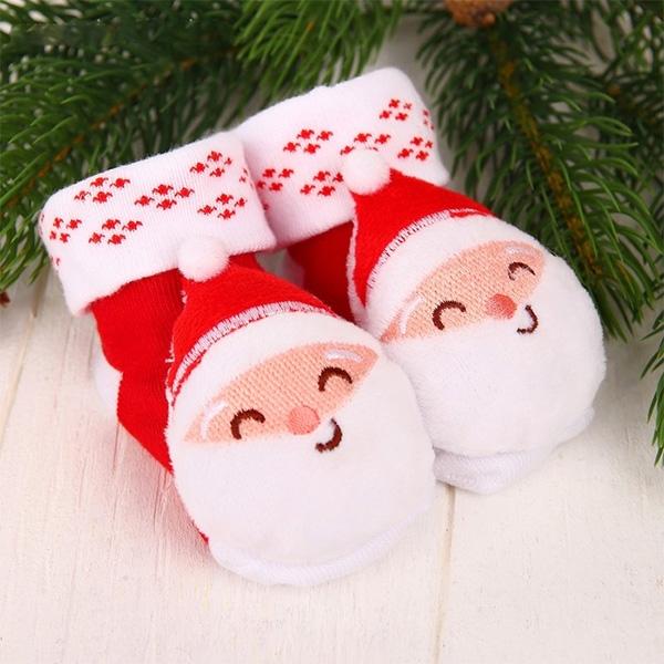 Носочки-погремушки «Дедушка Мороз» фото 0