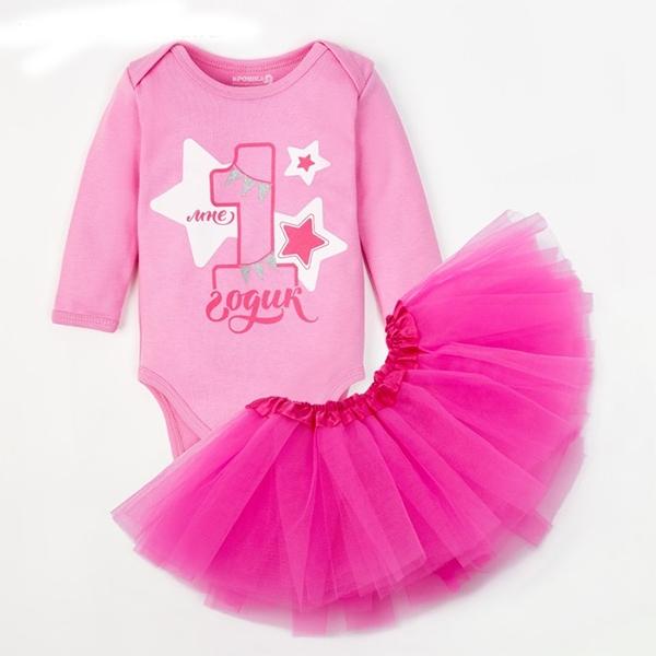 """Набор """"1 годик"""" розовый арт. 4239943 фото 0"""