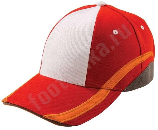 Бейсболка UNIT SPORT, белая с красным, арт.4722.65 фото 0
