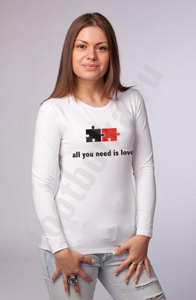 """Футболка """"All you need is love"""" фото 0"""