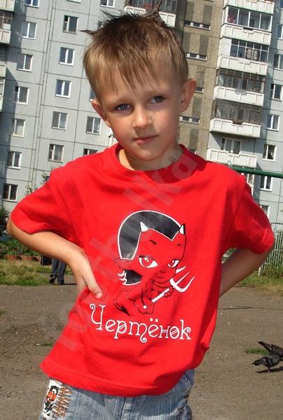 "Футболка ""Чертенок"" детская фото 0"