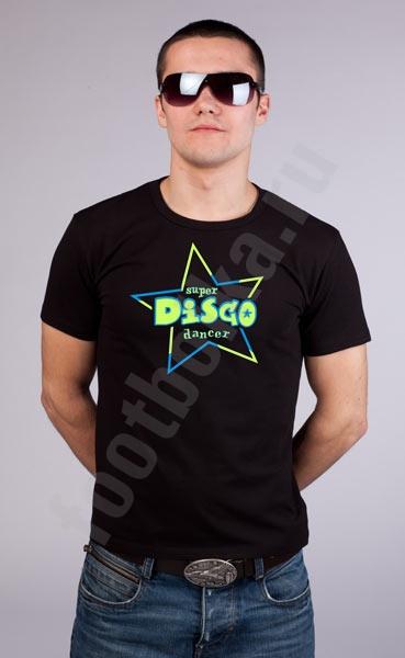 """Футболка """"Disco dancer"""" светится в УФ фото 0"""