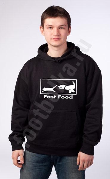 "Толстовка-кенгурушка  ""Fast food"" фото 0"