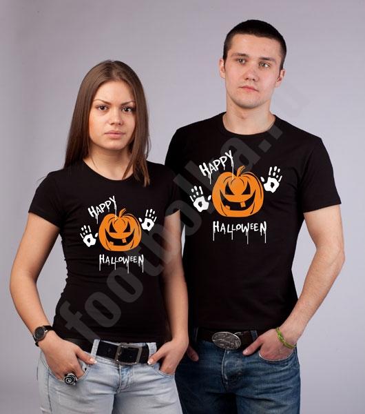 """Парные футболки """"Happy Halloween"""" фото 0"""