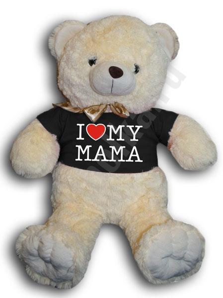 "Медвежонок в футболке ""Я люблю маму"" фото 0"