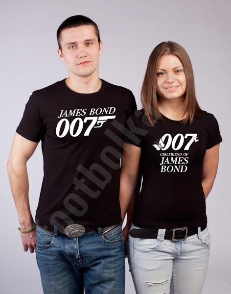 Футболки для влюбленных Бонд 007 фото 0