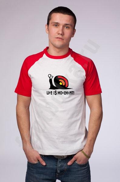 """Футболка """"Life is movement"""" фото 0"""