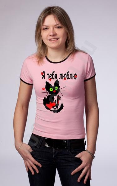 Футболка Love cat фото 0