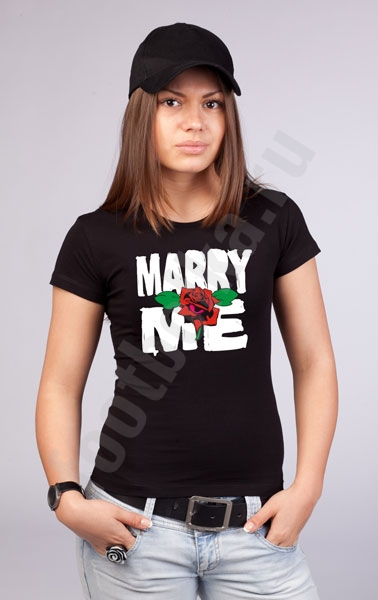 "Футболка ""Marry me"" фото 0"