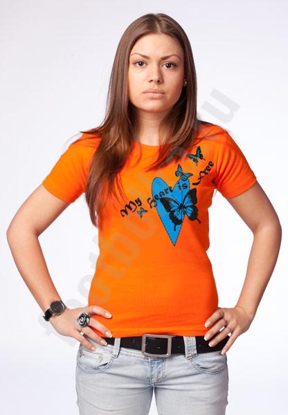"""Женская футболка """"Мое сердце свободно"""" фото 0"""