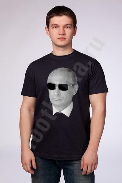 """Футболка """"Путин в очках"""" черная SALE фото 0"""