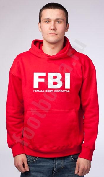 """Мужская толстовка с капюшоном """"FBI"""" фото 0"""