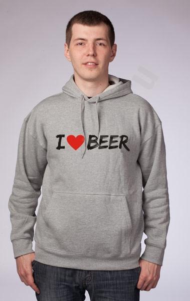 "Толстовка с капюшоном ""I love beer"" фото 0"