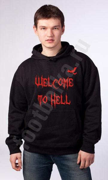 """Толстовка-кенгурушка Halloween """"Welcome to Hell"""" фото 0"""