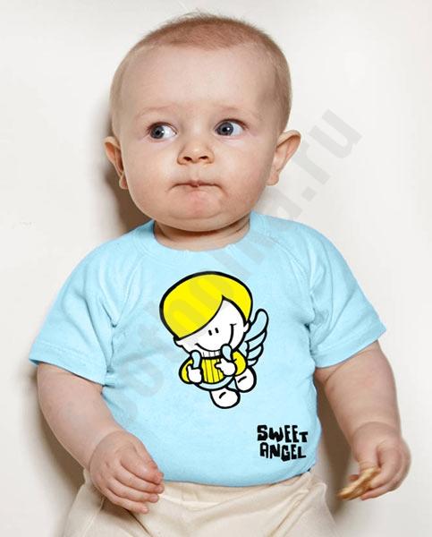 """Футболка детская """"Sweet angel (boy)"""" фото 0"""