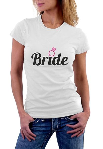 "Футболка ""Bride"" кольцо SALE фото 0"