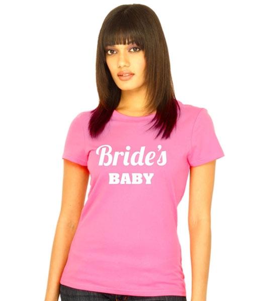 "Футболка розовая ""Brides Baby"" фото 0"