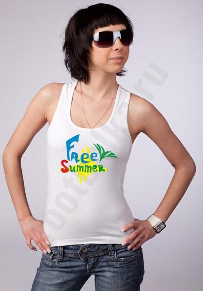 "Майка - боксерка  ""Free summer"" фото 0"