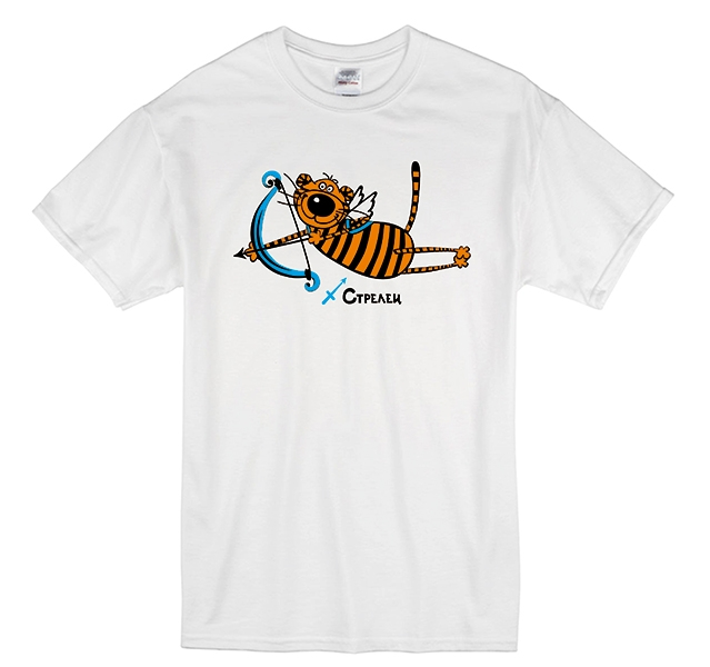 """Футболка знак зодиака """"Стрелец"""" тигр фото 0"""