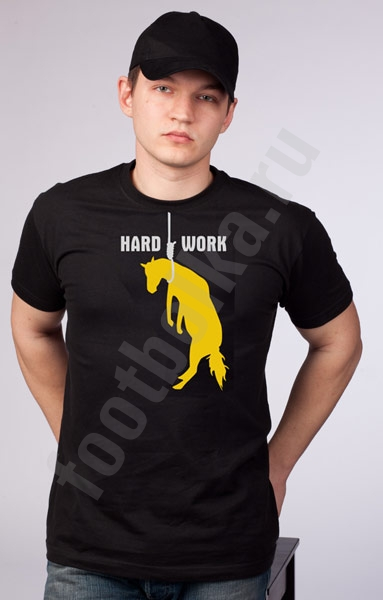 "Футболка ""hard work"" фото 0"