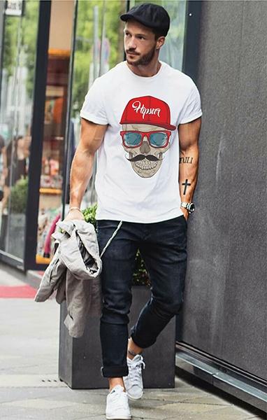 "Футболка ""Hipster Skull"" фото 0"