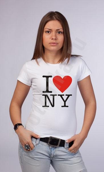 """Футболка """"I love NY"""" фото 0"""