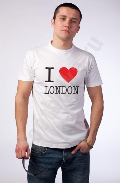 Футболка i love london 630 руб футболка i love
