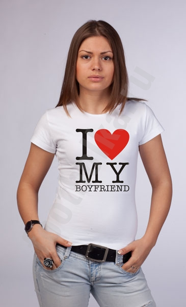 "Футболка ""I love my Boyfriend"" фото 0"