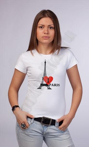 "Футболка ""I love Paris"" swarovski фото 0"