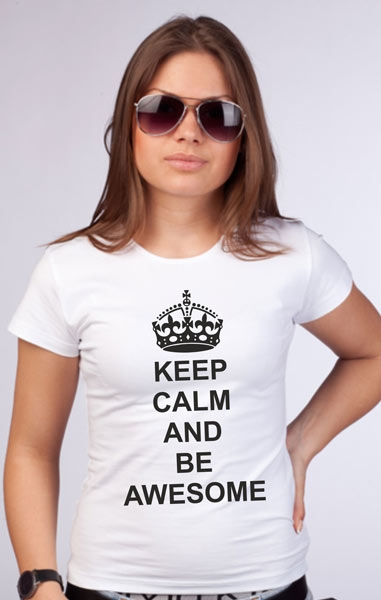 "Футболка ""Keep calm and be awesome"" фото 0"
