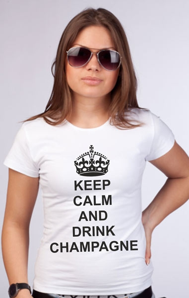 "Футболка ""Keep calm and drink champagne"" фото 0"