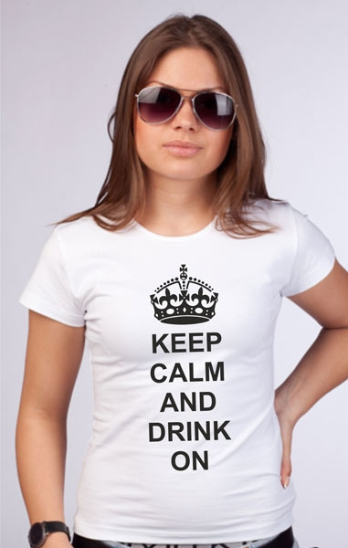 "Футболка ""Keep calm and drink on"" фото 0"