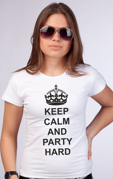 "Футболка ""Keep calm and party hard"" фото 1"
