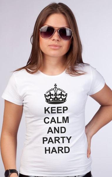 """Футболка """"Keep calm and party hard"""" фото 0"""
