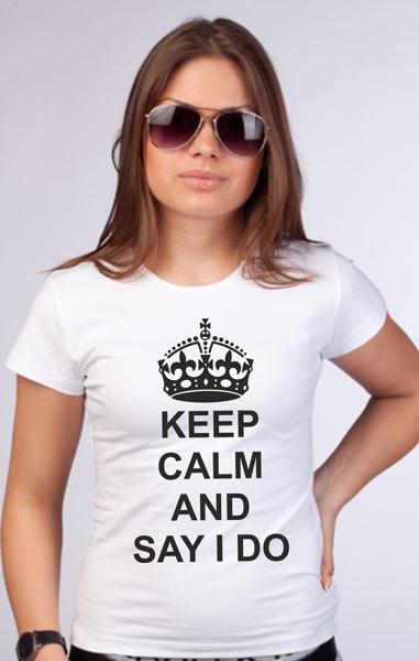 """Футболка """"Keep calm and say i do"""" фото 0"""