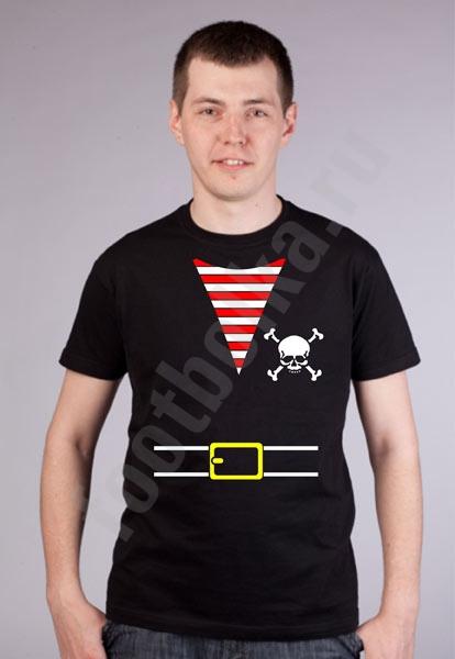 """Футболка мужская halloween """"Костюм пирата"""" фото 0"""