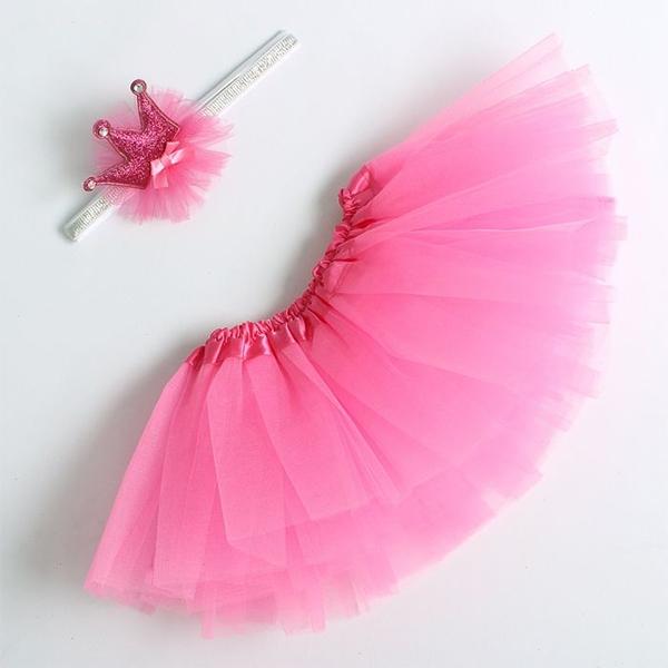 """Набор """"Маленькая принцесса: юбка, повязка"""" розовый фото 0"""