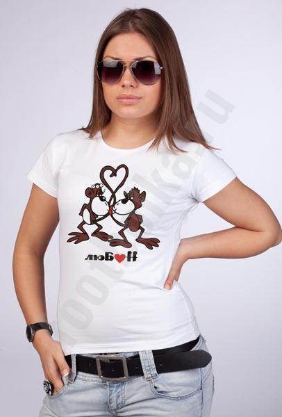 Футболка  Любовь /обезьянки/ фото 0