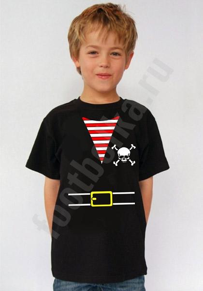 """Футболка детская halloween """"Костюм пирата"""" черная фото 0"""