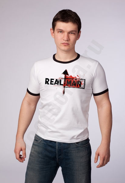 """Футболка мужская """"Real man"""" фото 0"""