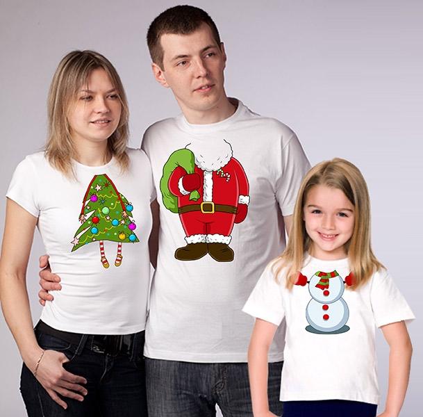 """Женская футболка из комплекта """"Дед мороз, елка и снеговичок"""" SALE фото 0"""