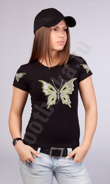 """Футболка """"Gold Butterfly"""" фото 0"""
