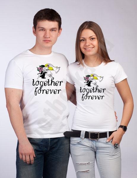 "Футболки свадебные ""Together forever "" фото 0"