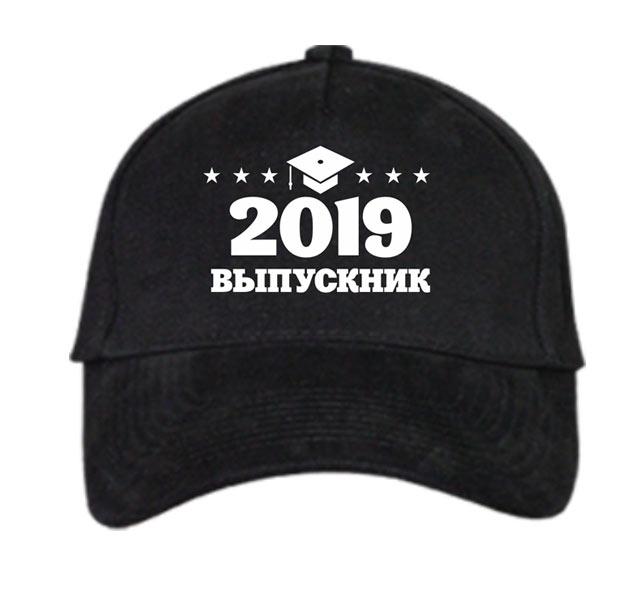 """Бейсболка черная """"Выпускник"""" укажите год фото 0"""