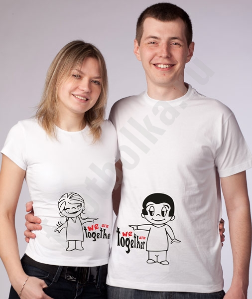 "Футболки ""We are Together Love is"" мальчик/девочка хлопок фото 0"