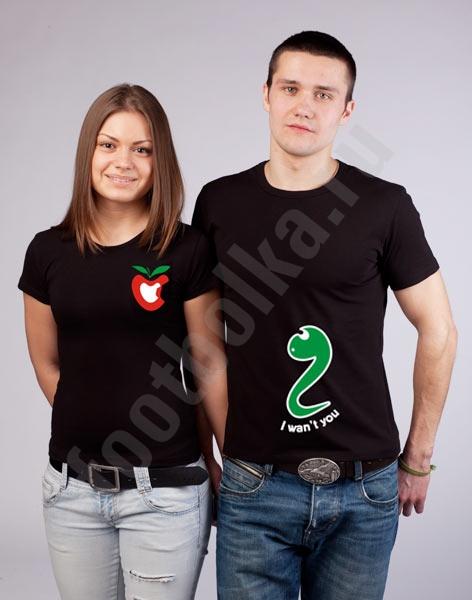 Модная футболка: Прикольные футболки для пары - photo#18