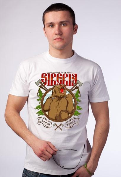 """Футболка """"Siberia. Закон. Тайга"""" фото 0"""