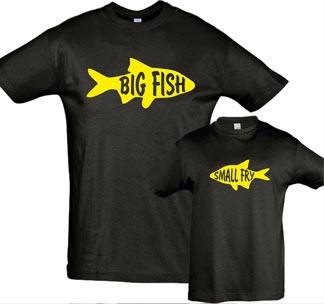 """Футболки для папы и сына """"Big fish, Small fry"""""""